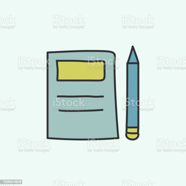 https www istockphoto com vector notebook and pencil sketch icon element of education icon for mobile concept and gm1039344828 278232989