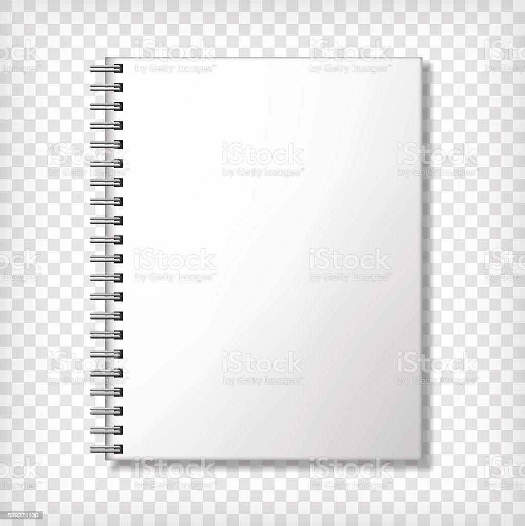 Notebook blank mockup vector art illustration
