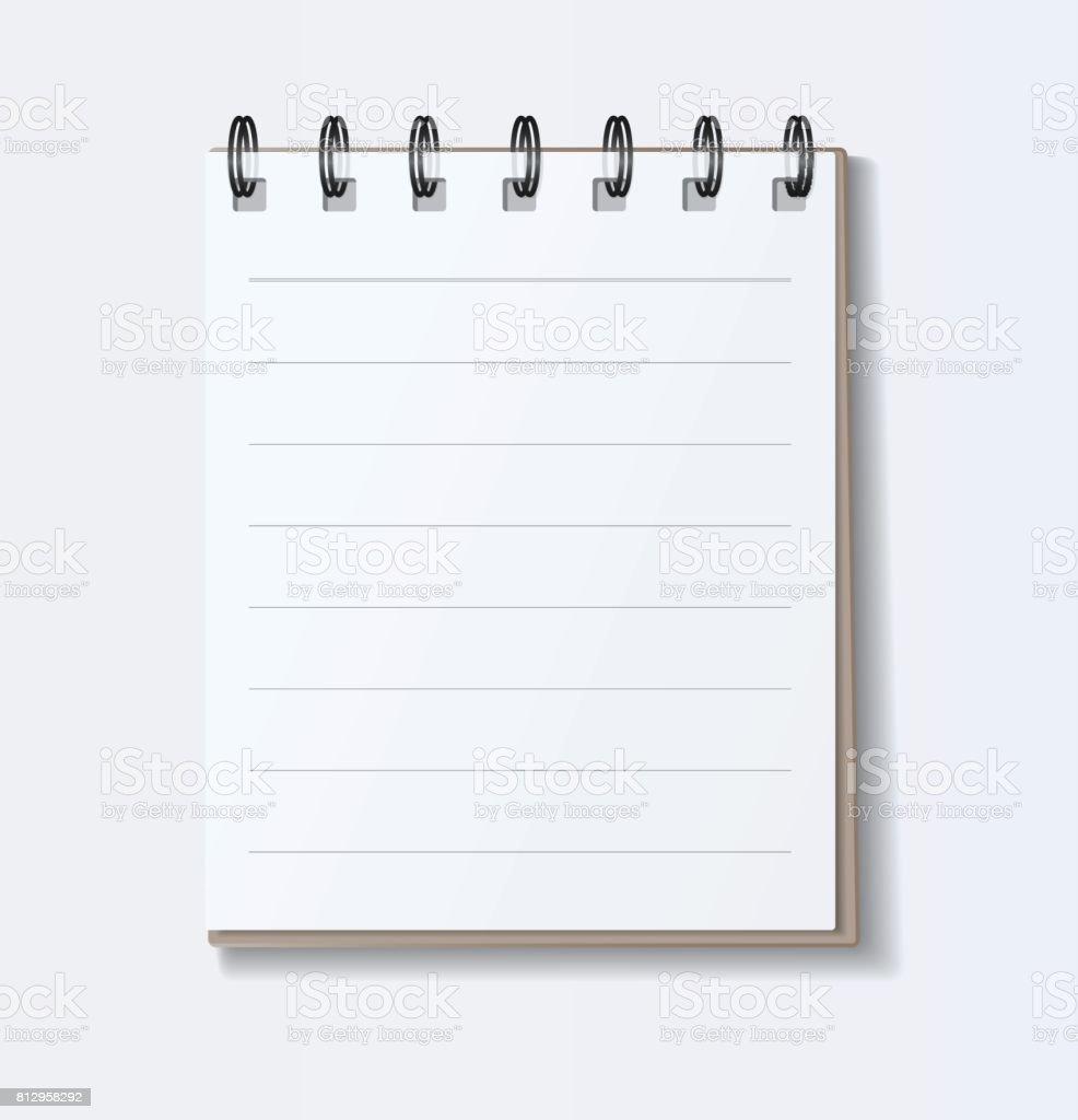 ノート用紙かわいいベクター アート イラスト のイラスト素材