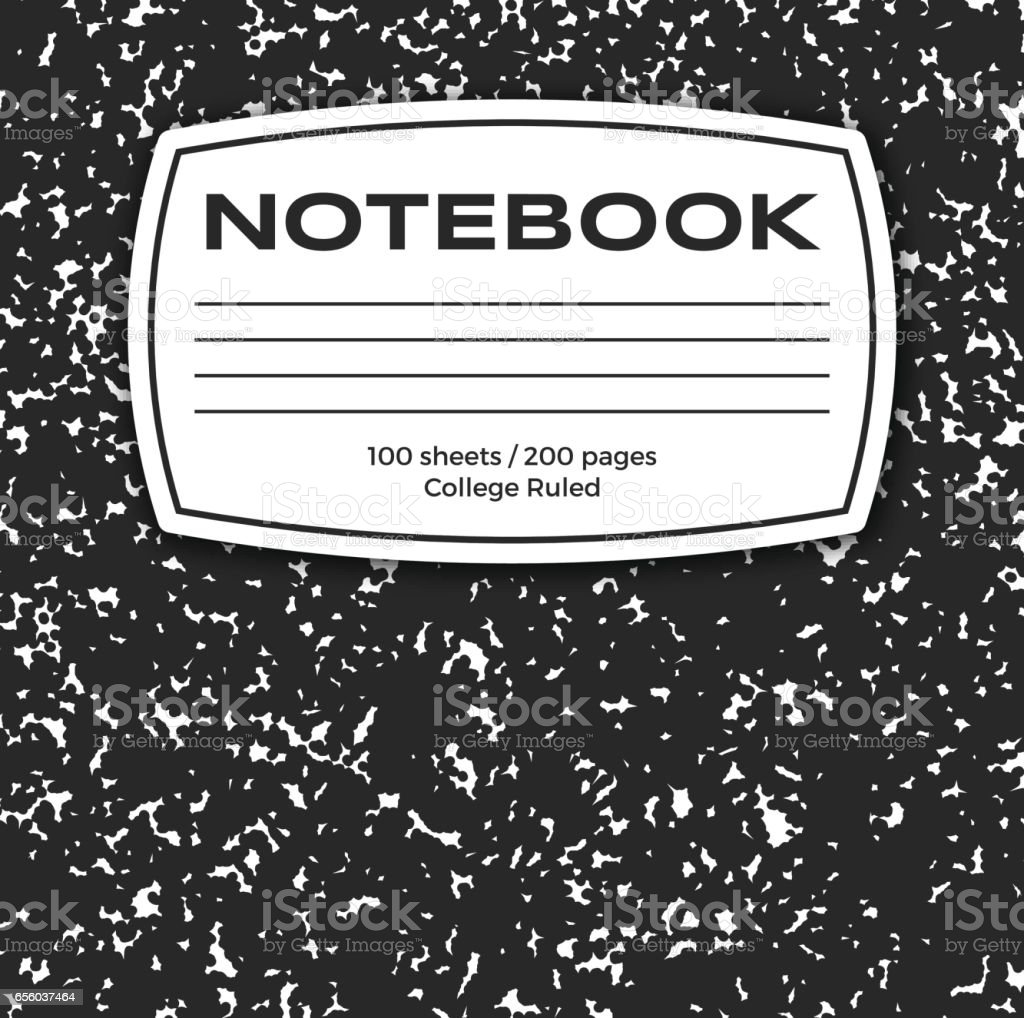 Notebook Cover vector art illustration