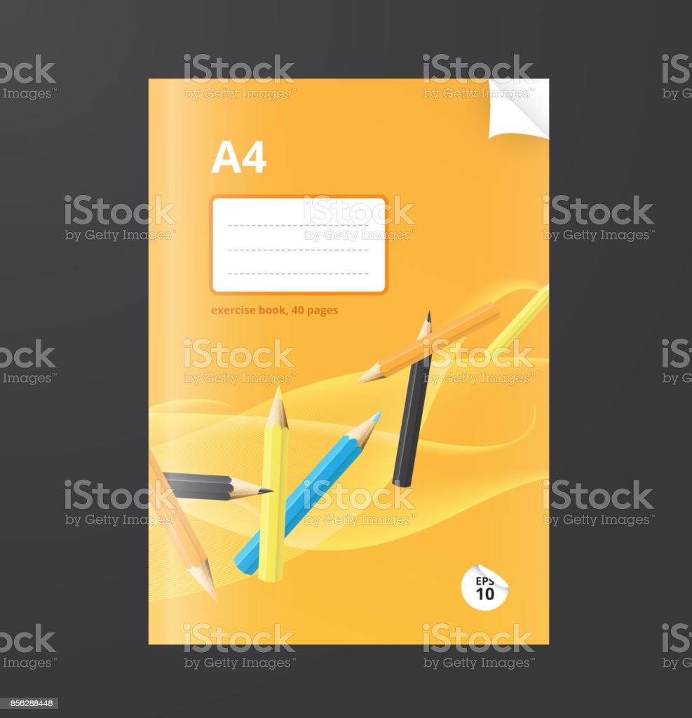 Notebook design vector art illustration
