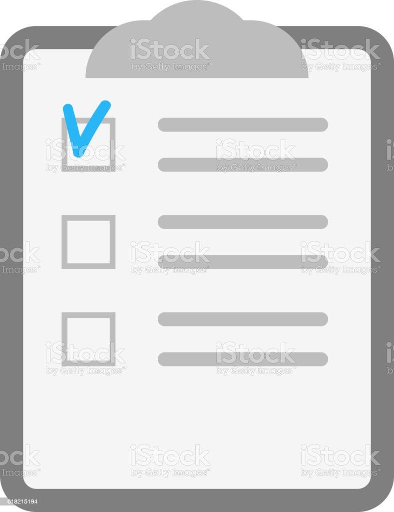 Notebook Document Checklist Test Vector Stock Illustration