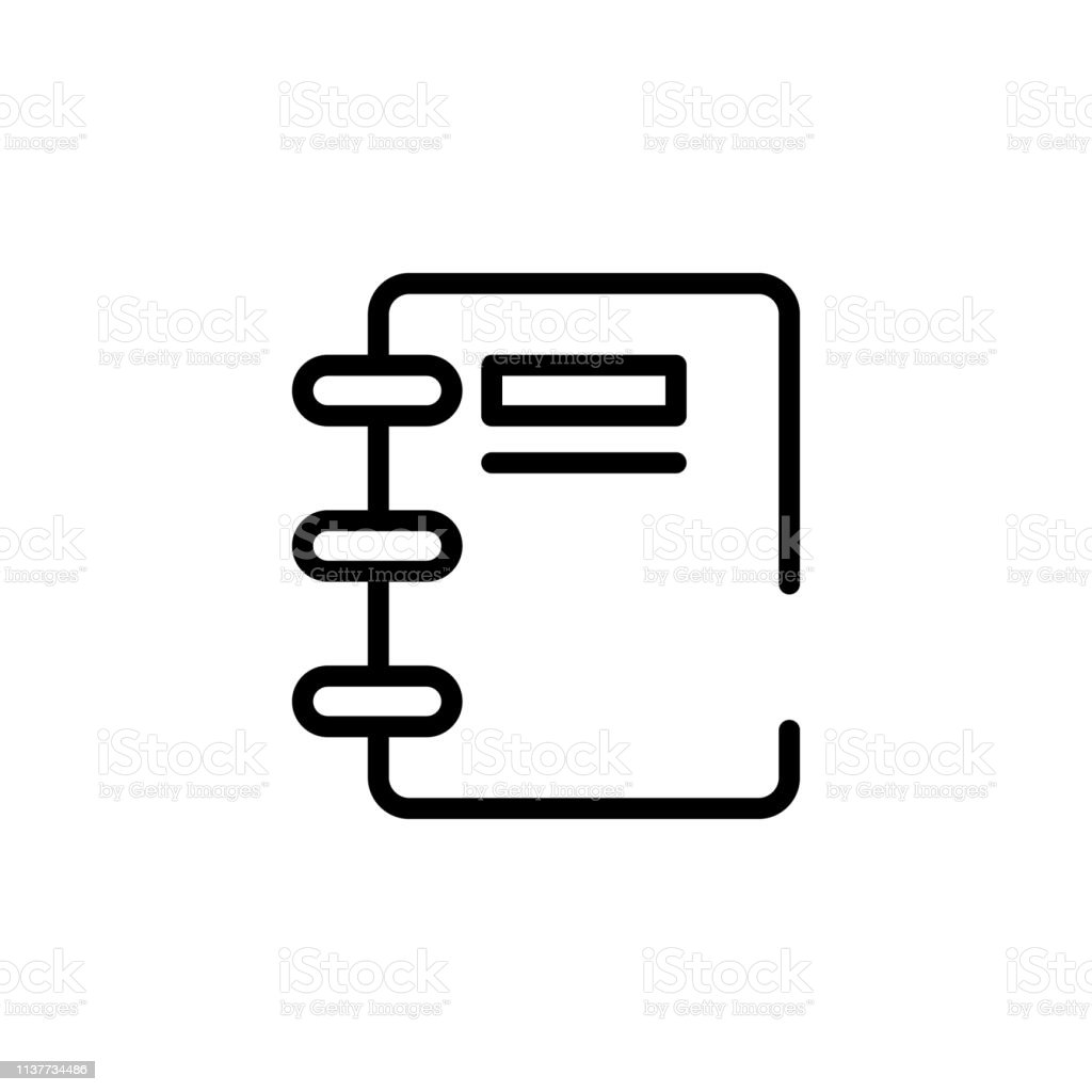 Notebook Icon Element Of Business Start Up Icon For Mobile Concept