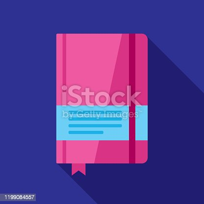 Notebook Icon Flat 2