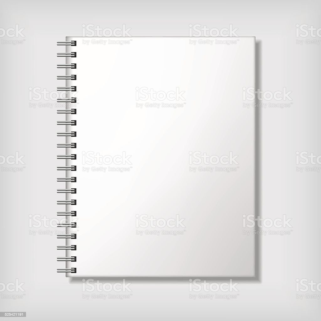 Notebook mockup vector art illustration