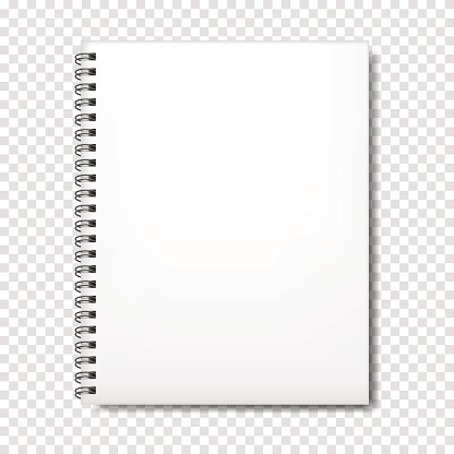 Notebook mockup with place for your text or image.