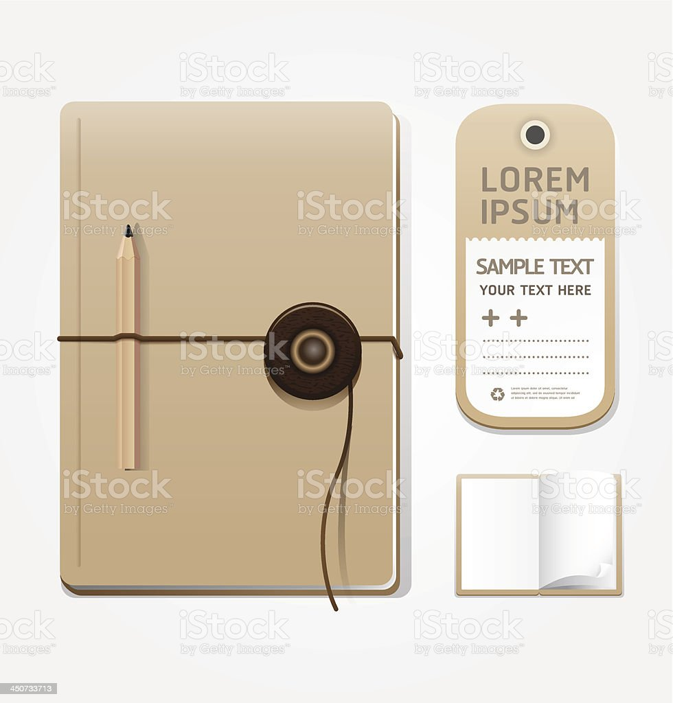notebook openpage with tag template for design layout.eps10 royalty-free stock vector art