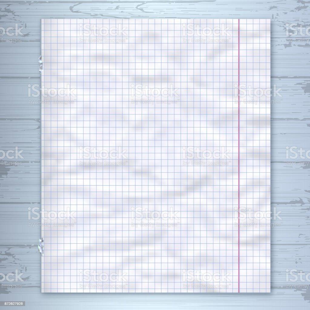 Plantilla De Diseño Página De Cuaderno Fondo Madera Papel Rayado ...