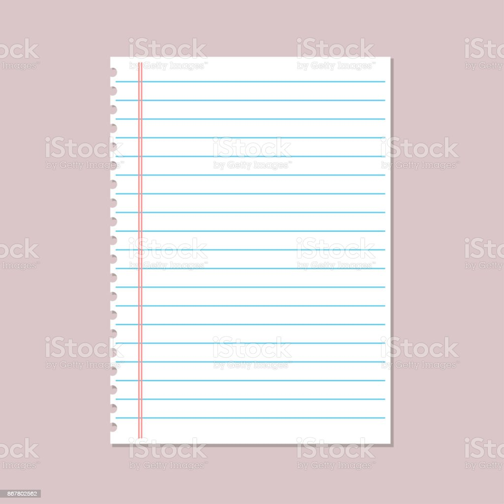 Notebook Paper Background Lined Paper Stock Illustration