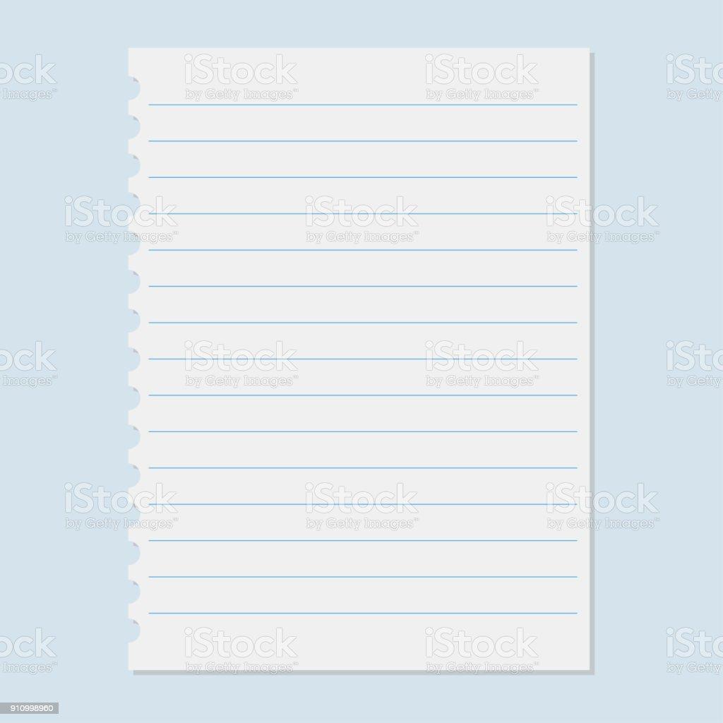 Notebook Paper Sheet - Arte vetorial de stock e mais imagens de ...