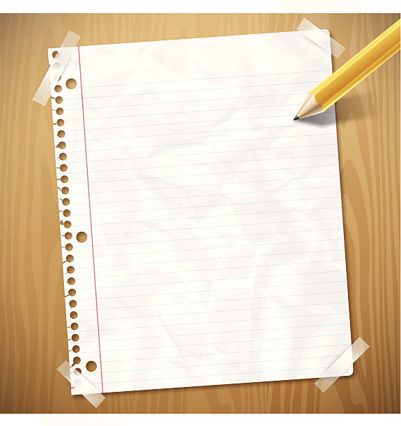 notebook paper - lined paper stock illustrations