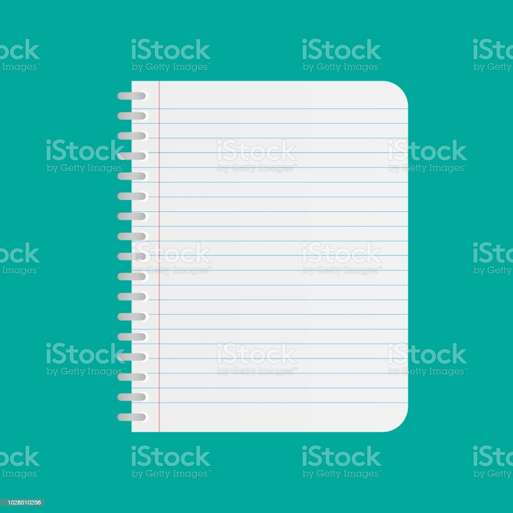 Notebook Rectilinear Realistic Vector Icon For App And Website