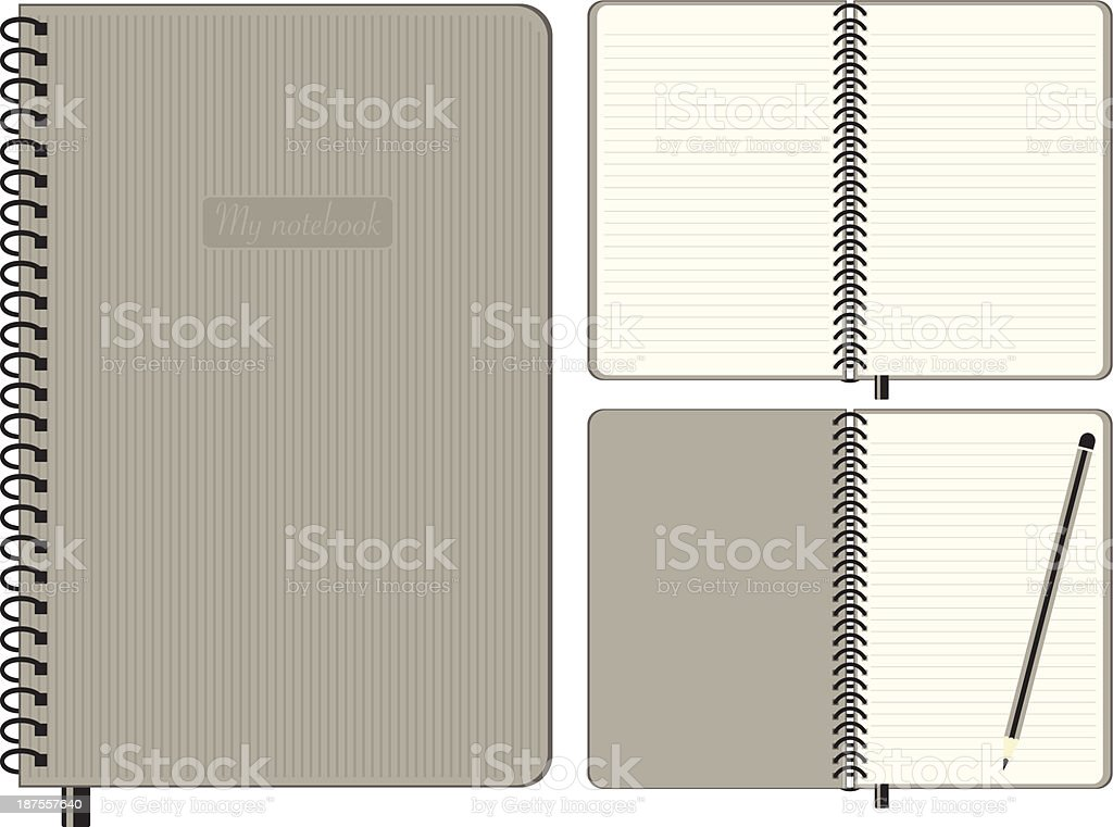 Notebook Set royalty-free stock vector art