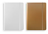 Notebook Templates Isolated on White Background Vector