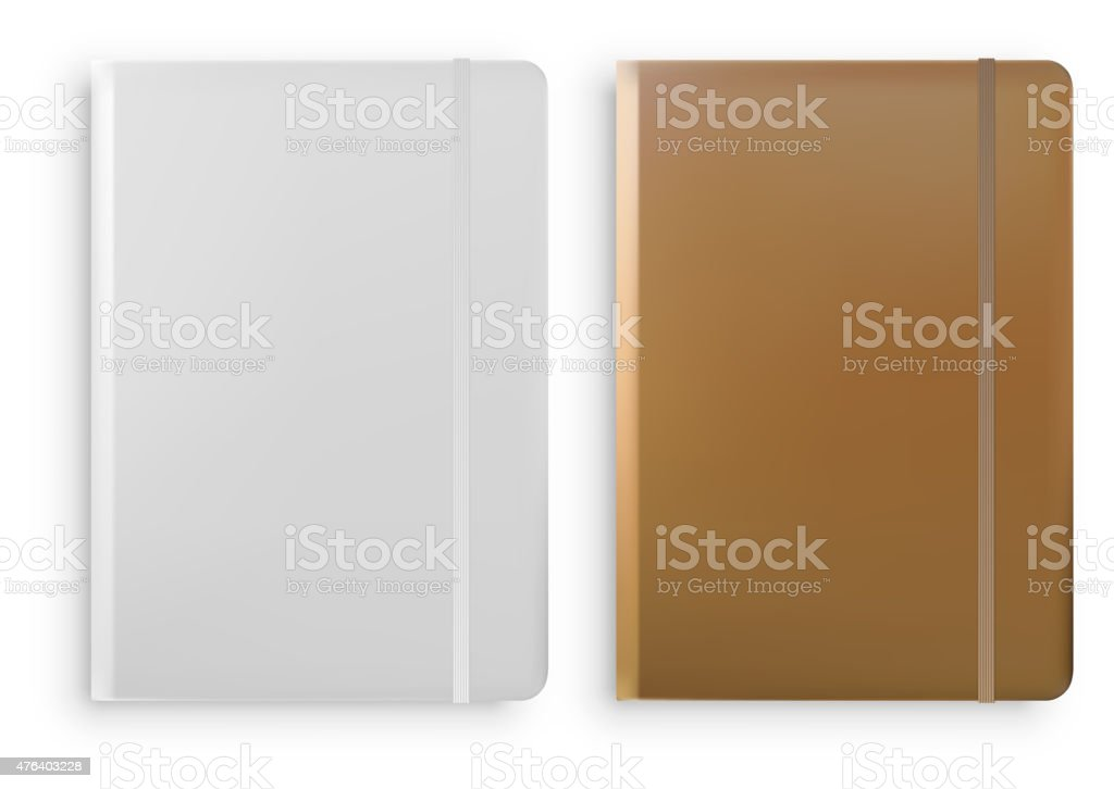Notebook Templates Isolated on White Background Vector vector art illustration
