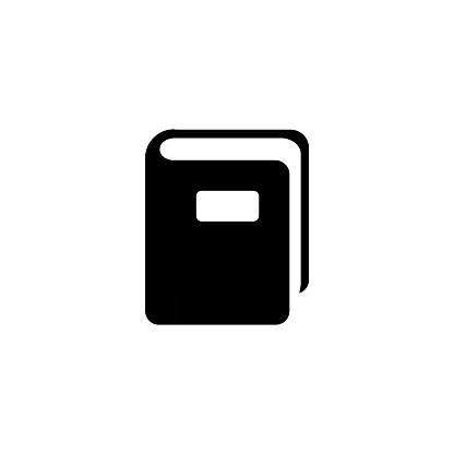 Notebook vector icon. Isolated book flat emoji, emoticon symbol - Vector