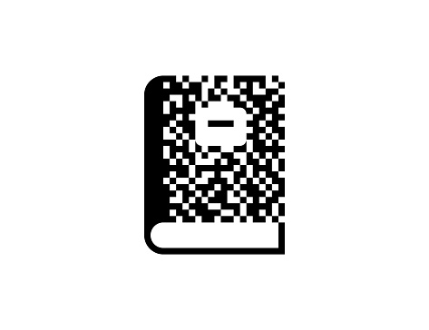 Notebook vector icon. Isolated Note book flat illustration symbol - Vector