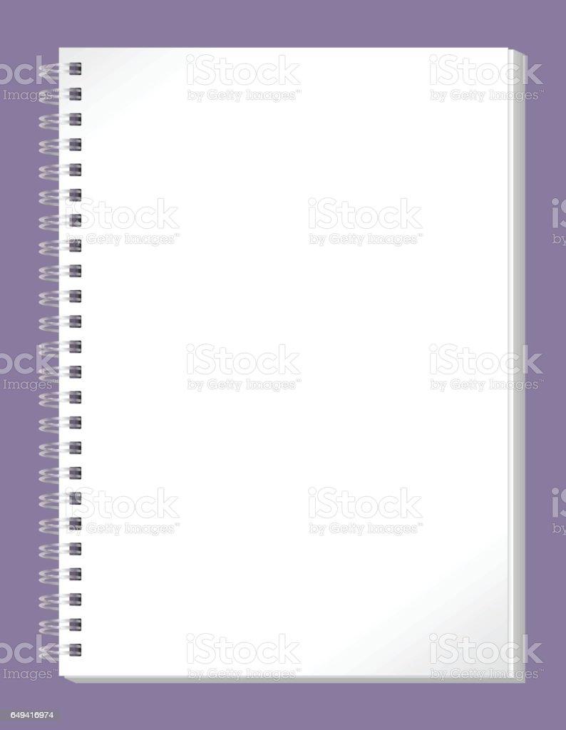 Notebook vector art illustration