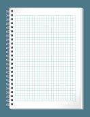 Blank checked pattern spiral notebook.
