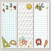 Notebook vertical banners