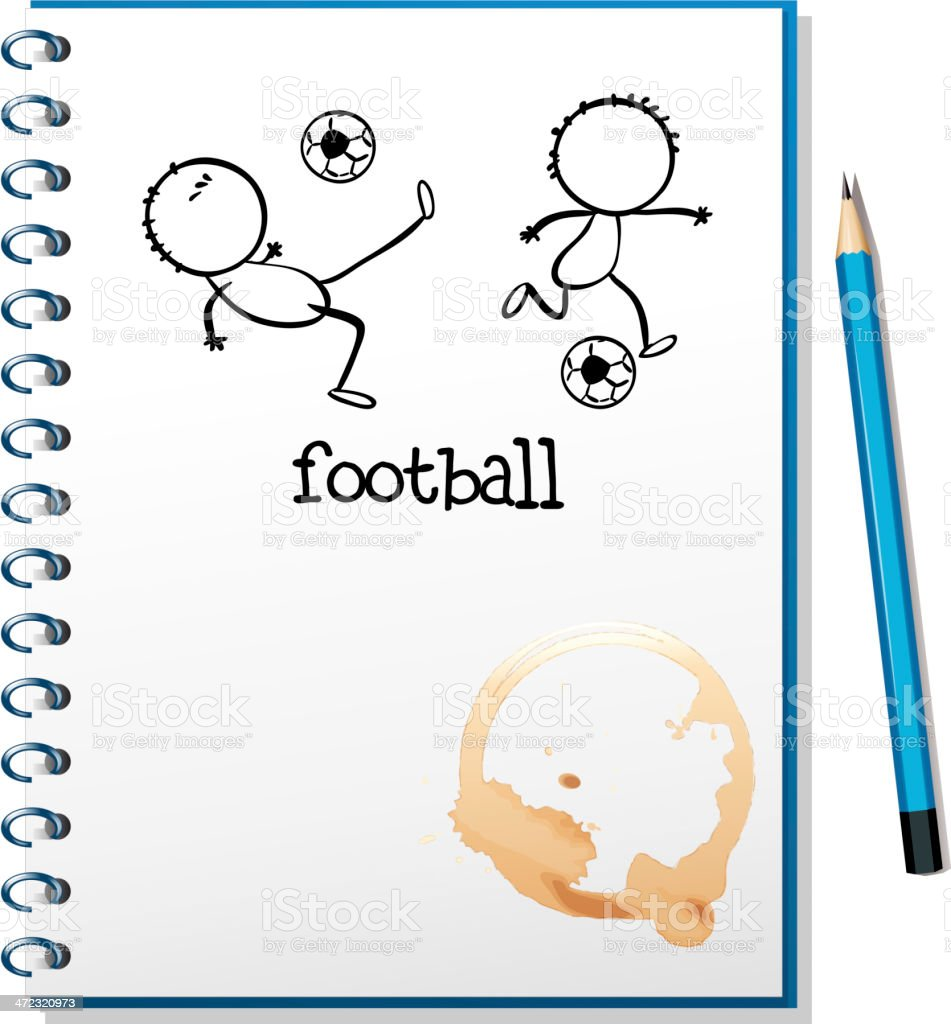 notebook with a football design royalty-free notebook with a football design stock vector art & more images of backgrounds