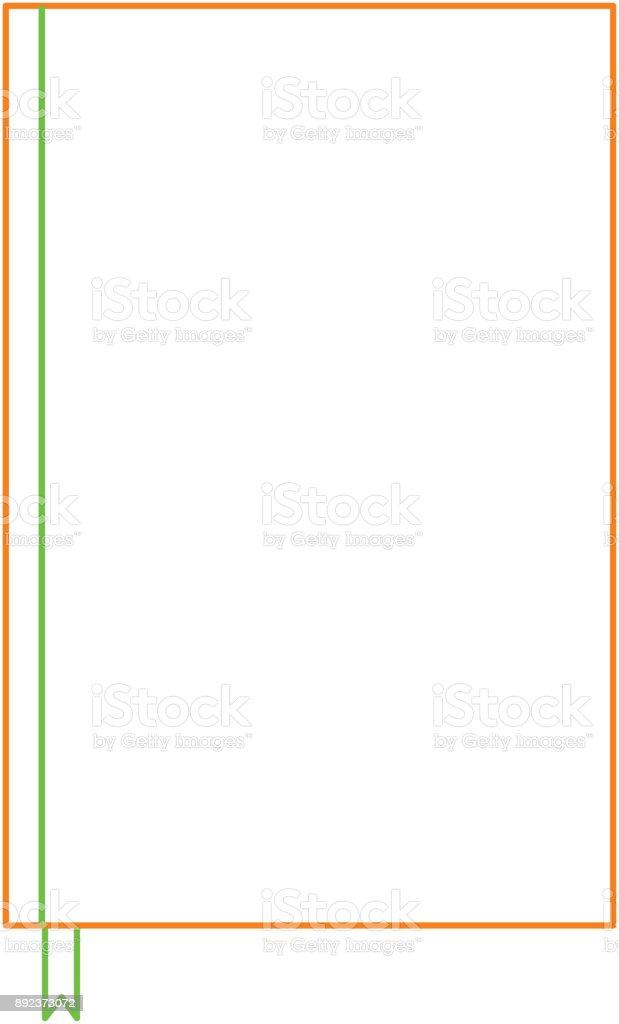 Notebook Mit Lesezeichen Vorlage Leeres Corporate Briefpapier ...