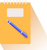 istock Notebook with pen icon isolated on white background.Vector illustration. 1313535152