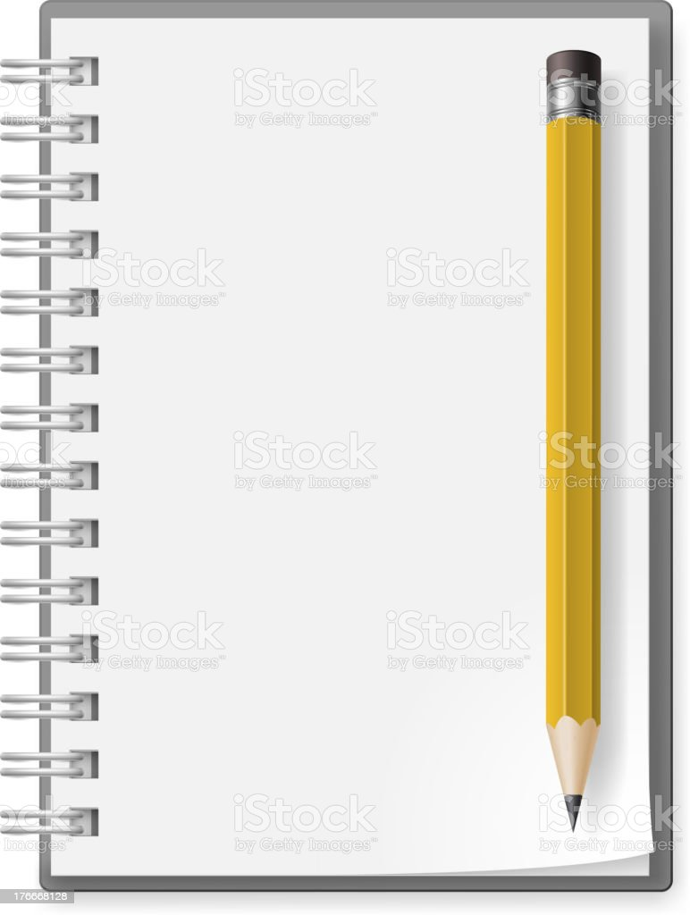 Notebook with pencil royalty-free notebook with pencil stock vector art & more images of document