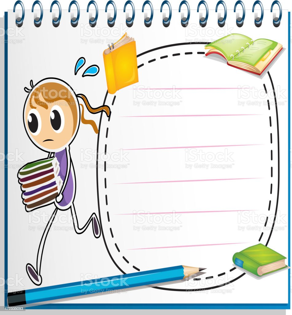 notebook with sketch of girl running royalty-free notebook with sketch of girl running stock vector art & more images of adult