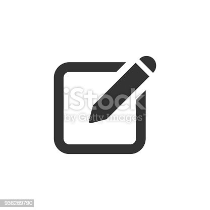 istock Notepad edit document with pencil icon. Vector illustration. Business concept note edit pictogram. 936289790