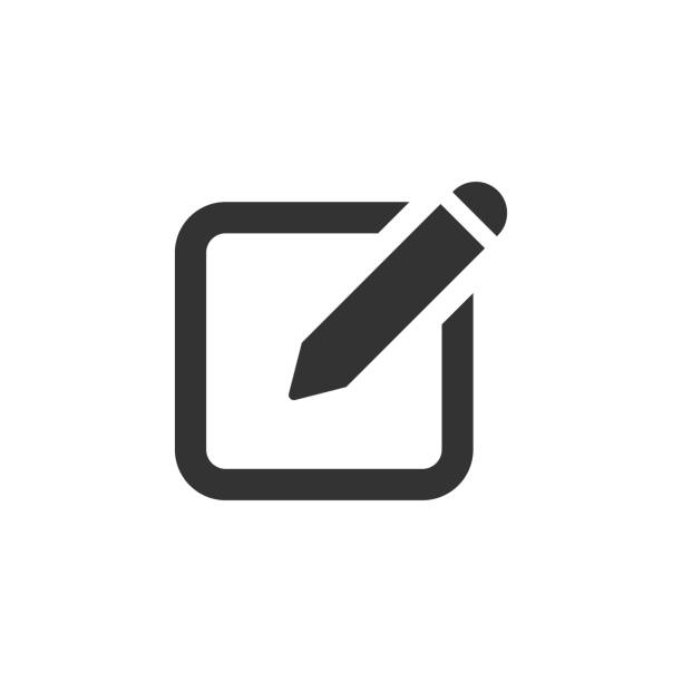 Notepad edit document with pencil icon. Vector illustration. Business concept note edit pictogram. vector art illustration