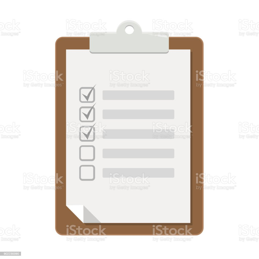 notepad Flat Design vector art illustration