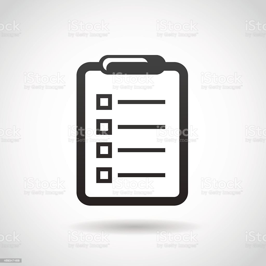 Notepad icon isolated on white background. vector art illustration
