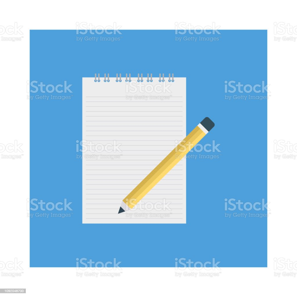 Notepad Notebook Edit Stock Illustration - Download Image Now