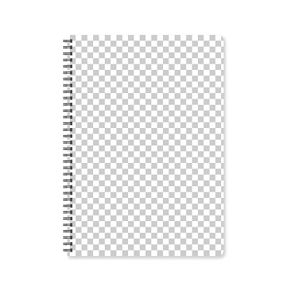 Notepad template with blank background