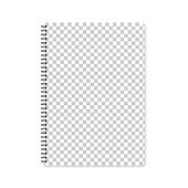Realistic notebook with an blank background (for your own design), isolated on white background. Notepad template for your design (with good and real size). With space for your text and your background. The layers are named to facilitate your customization. Vector Illustration (EPS10, well layered and grouped). Easy to edit, manipulate, resize or colorize. Please do not hesitate to contact me if you have any questions, or need to customise the illustration. http://www.istockphoto.com/portfolio/bgblue