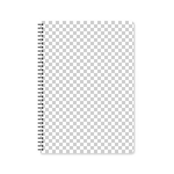 Notizblock-Vorlage mit leeren Hintergrund – Vektorgrafik