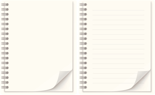 Notepad Stock Vector Art & More Images of Angle