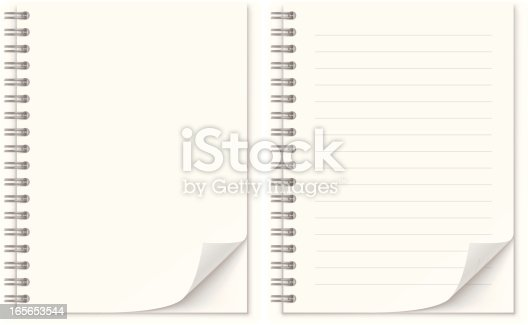 Notepad Stock Vector Art & More Images of Angle 165653544