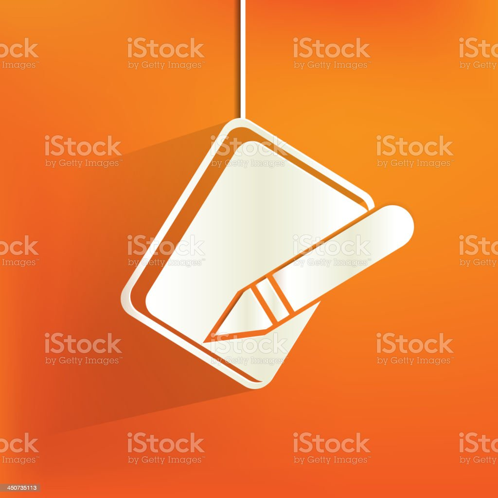 Notepad web icon,flat design royalty-free stock vector art
