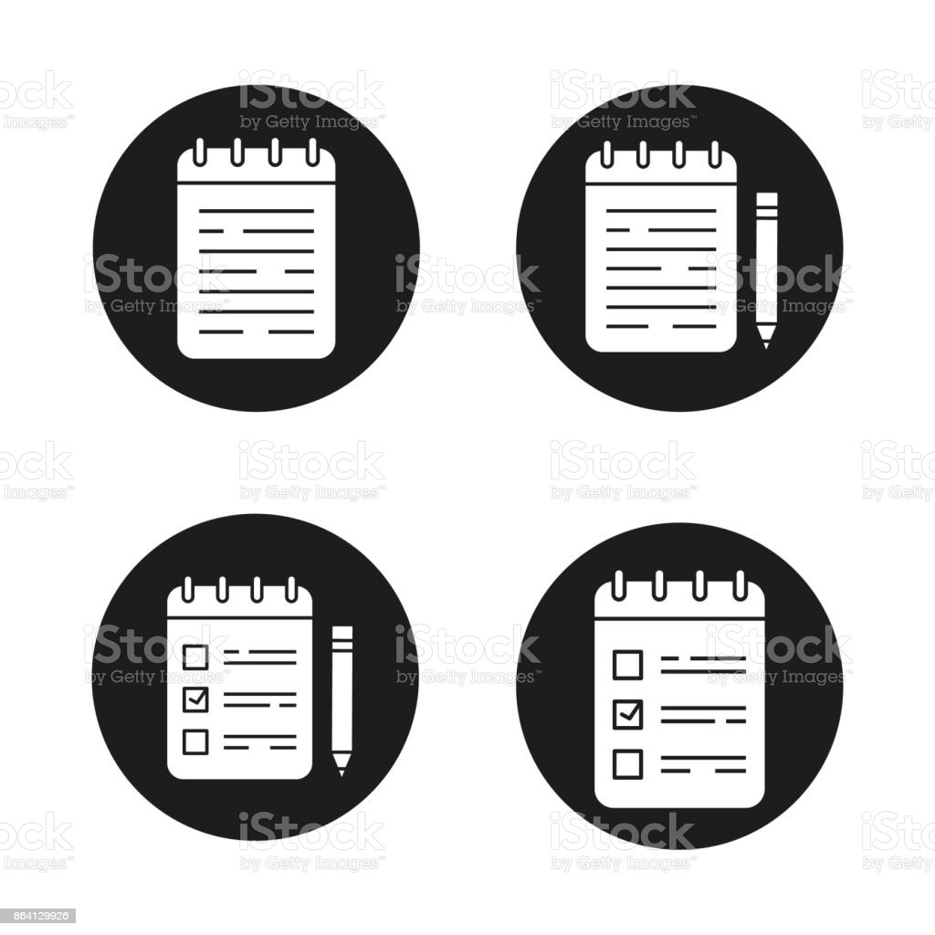 Notepads icons royalty-free notepads icons stock vector art & more images of backpack