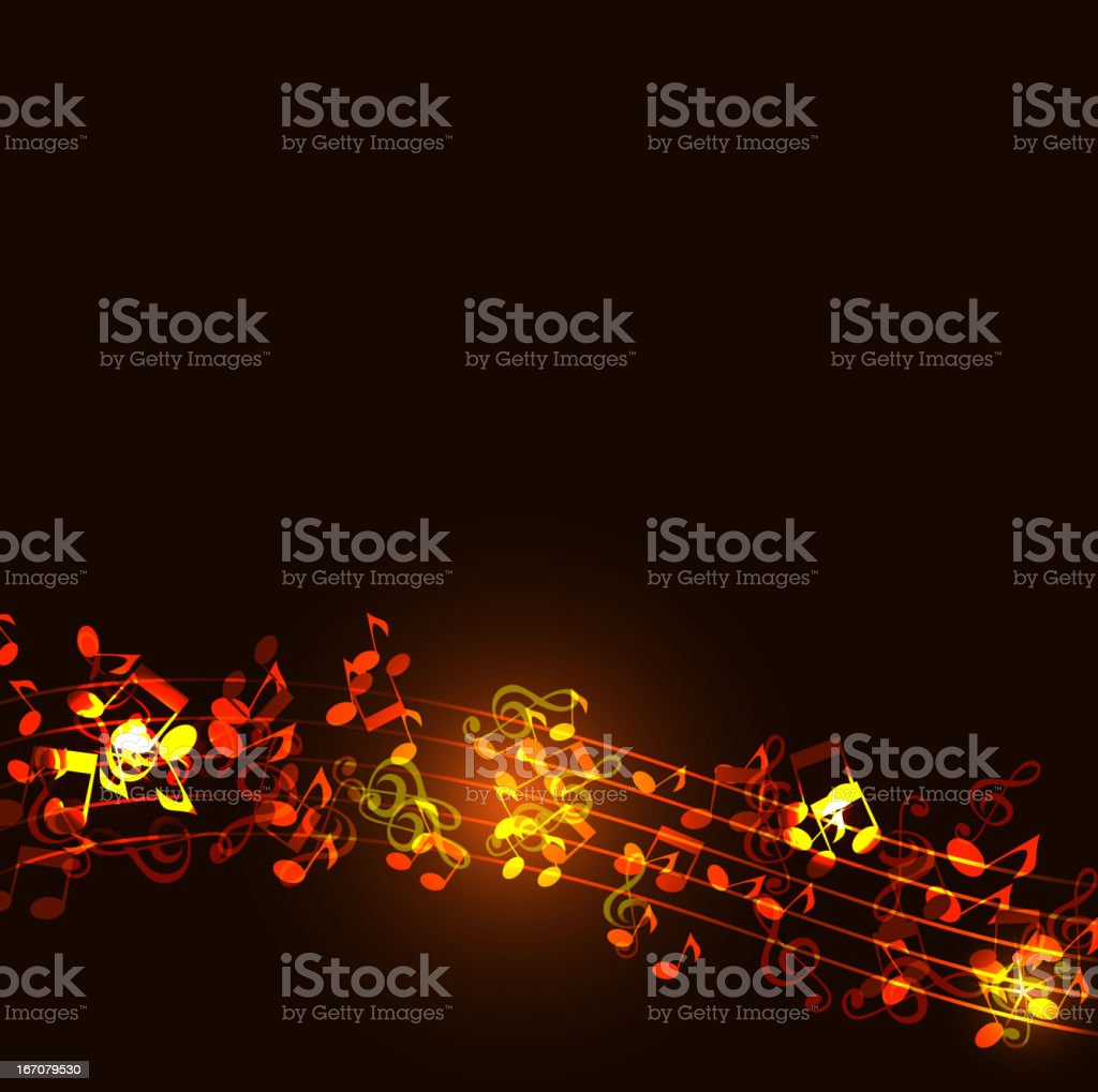 Notes abstract gold music background - Royalty-free Abstract stock vector