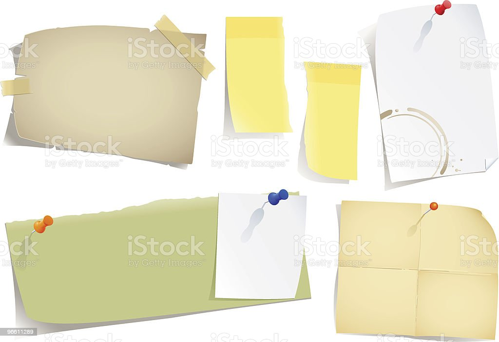 notes and post-it - Royalty-free Absence stock vector