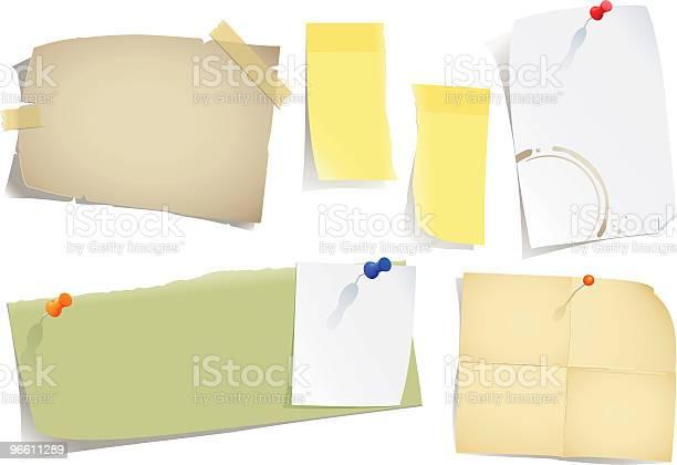 Notes And Postit-vektorgrafik och fler bilder på Enkelhet