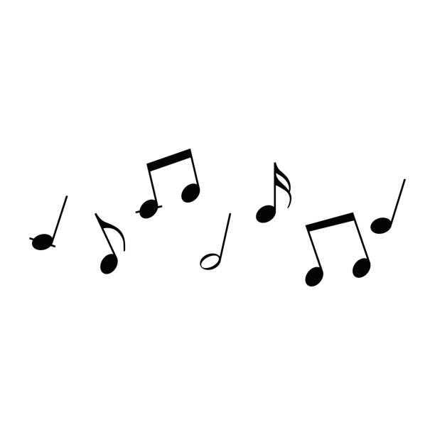 illustrazioni stock, clip art, cartoni animati e icone di tendenza di notes icons set background - nota
