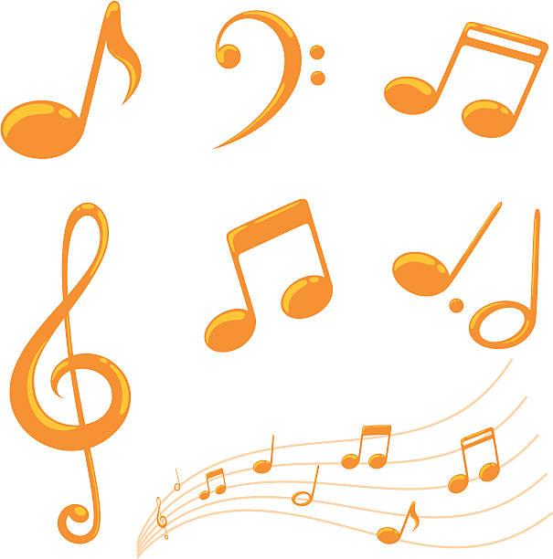 notizen – inkl. jpeg - musiksymbole stock-grafiken, -clipart, -cartoons und -symbole