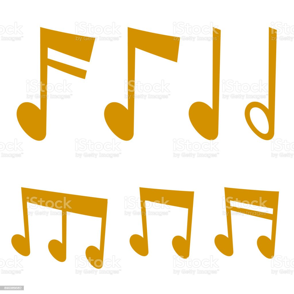 Notes music melody colorfull musician symbols sound melody text writting audio symphony vector illustration vector art illustration