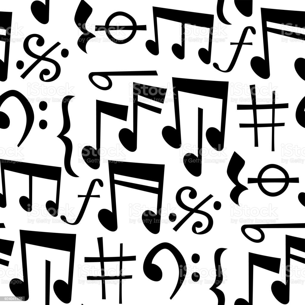 Notes Music Melody Colorfull Musician Symbols Sound Melody Text