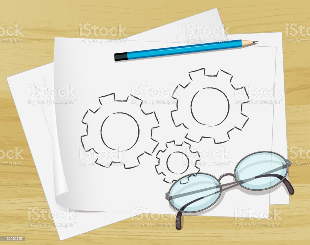 Notes on paper royalty-free stock vector art
