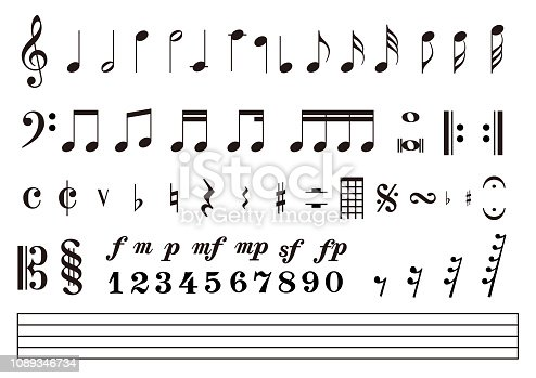 musical note icon set